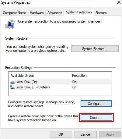 "click on ""Create.."""