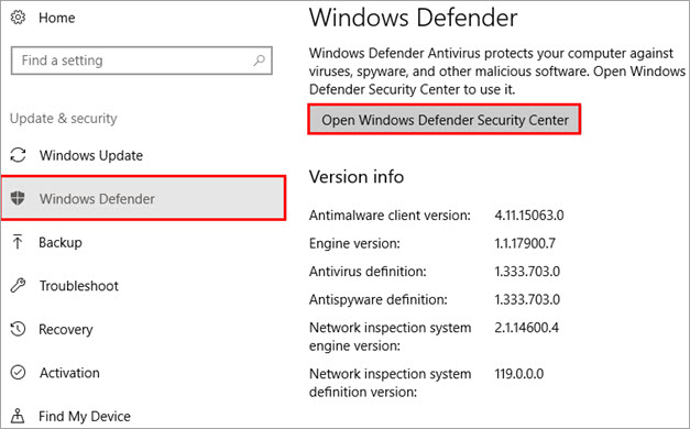 Windows defender - VCRUNTIME140 dll Not Found fixed