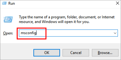 """type """"msconfig"""" on the search box"""