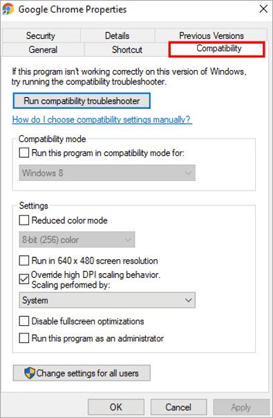 Compatibility Option