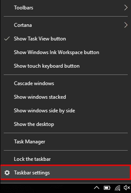 taskbar setting option - Taskbar Won't Hide