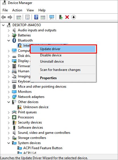 "click on ""Update Driver"" - Critical Process Died Windows 10 Error"