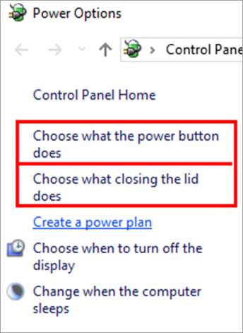 Choose what the power buttons does