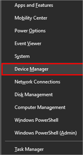 Device Manager - ethernet doesn't have a valid ip configuration