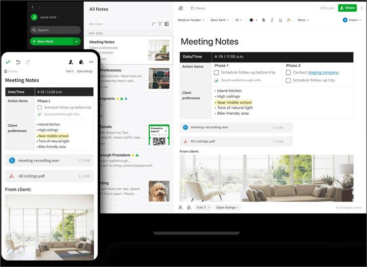 Evernote Dashboard new - Content Calendar Tools