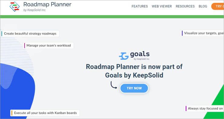 Roadmap Planner Website