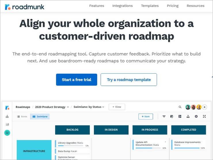 Roadmunk Website