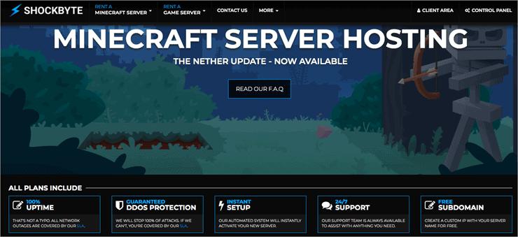 Shockbyte- Best Minecraft Server Hosting