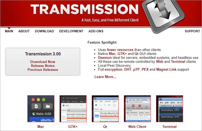 Transmission - Best Torrent Clients