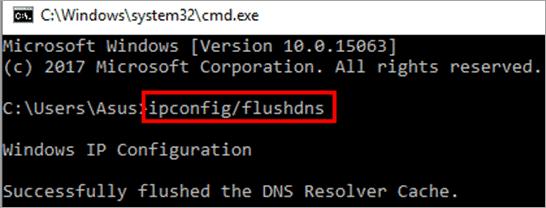 "type ""ipconfig/flushdns"""
