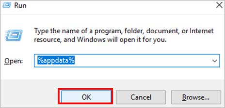 "type ""%appdata%"""
