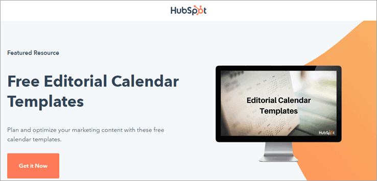 HubSpot Editorial Content Calendar Template
