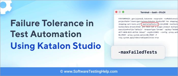 Automated Fault-Tolerance Testing Using Katalon Studio